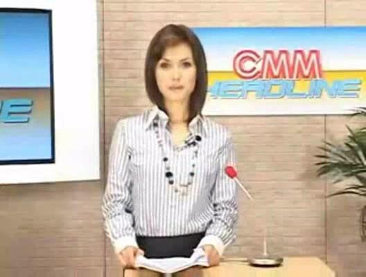 Японскую телеведущую трахают в прямом эфире
